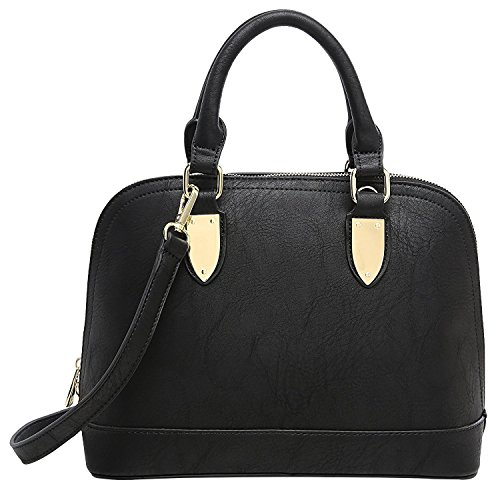 Black Satchel Handbag - 4