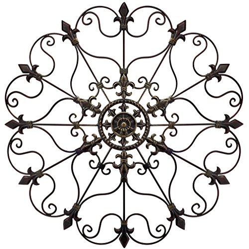 Yun&Lin Crafts YL Crafts - Metal Mounted Medallion Hand-painted Wall Decor 28