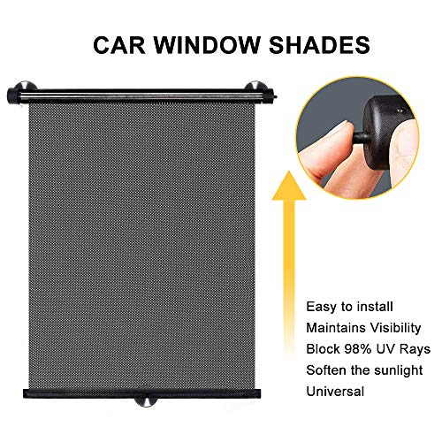 Maxesla Car Window Shade 2 Pack Car Sun Shade for Side Automotive Windows Shades Blocking UV Rays Sun Visor Protector, Good Care for Your Baby and Kids