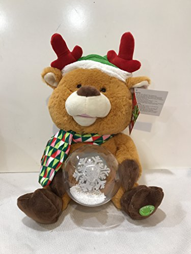 Plush Animated Message Pals Teddy Bear Christmas Singing Merry Christmas Reindeer