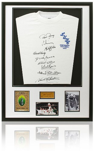 Leeds United 1972 FA Cup Final Shirt Hand Signed by 9