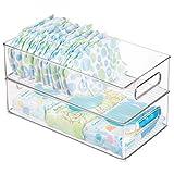 iDesign Plastic Portable Deep Storage Bin with
