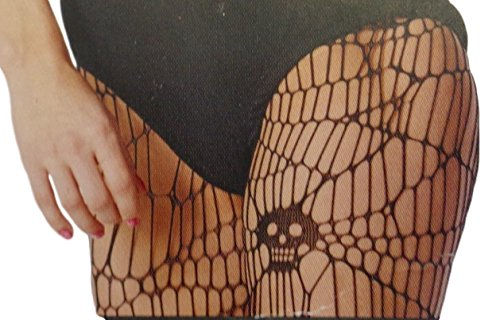 Adult Skull Fishnet Style Black Halloween Costume Tights (Target Costumes Halloween)