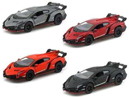 Amazon Com Set Of 4 Lamborghini Veneno 1 36 Toys Games