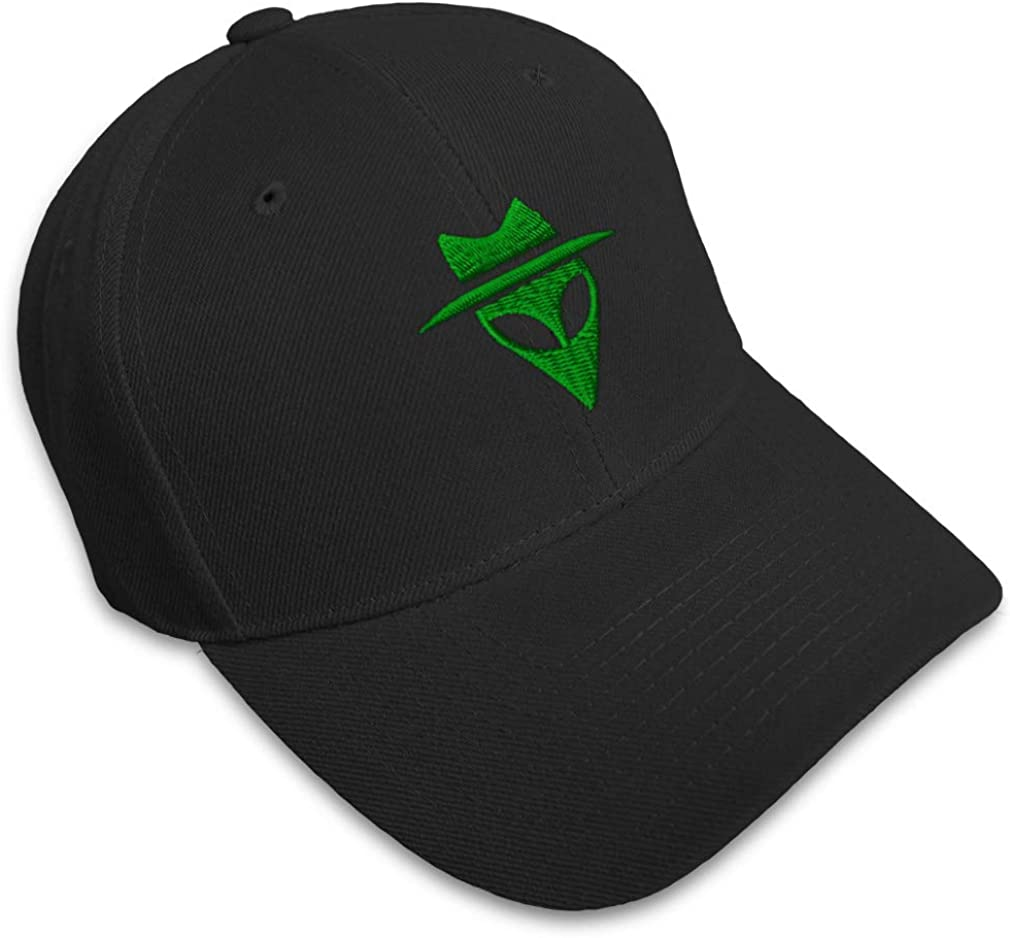 Alien Embroidered base ball cap hat In Various Colours