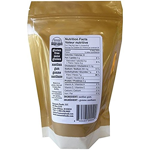 Namaste Foods Raw Goods Gluten Free Xanthan Gum, 8 oz (Pack of 2)