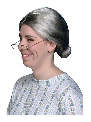 10 x del bebé para la abuela Old Lady peluca con bun disfraz infantil de peluca