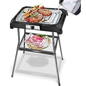 Aigostar Lava Pro - Griglia senza fumo, griglia per barbecue elettrica con piedini e tavolo da esterno. Antiaderente con… 18