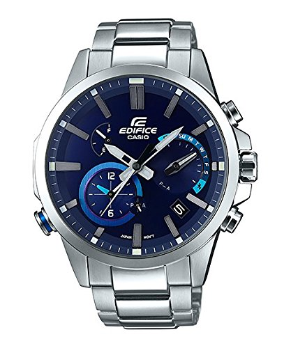 Men's  Edifice Bluetooth  Solar Powered Alarm Watch - Casio EQB-700D-2A