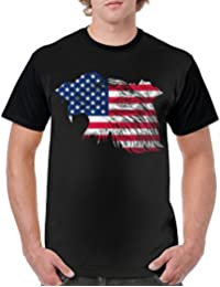 Man Eagle USA Flag Adult Summer Cool Driving T-Shirt Gift