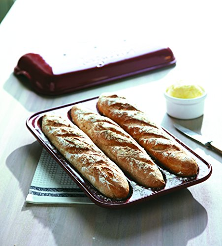 Emile Henry Made In France Flame Baguette Baker, 15.4 x 9.4'', Burgundy by Emile Henry (Image #6)