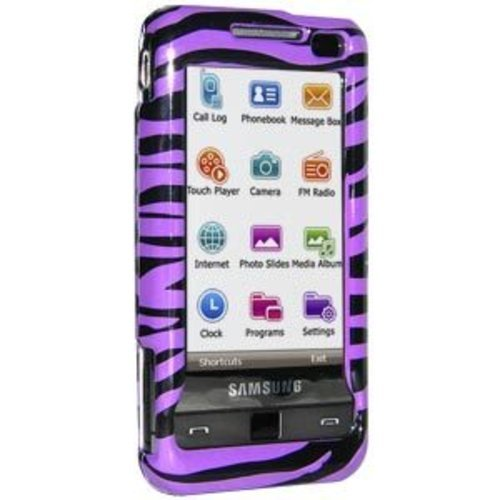 Amzer Zebra Print Snap-On Crystal Hard Case for Samsung Omnia SCHi910/SGHi900 - - Crystal I900
