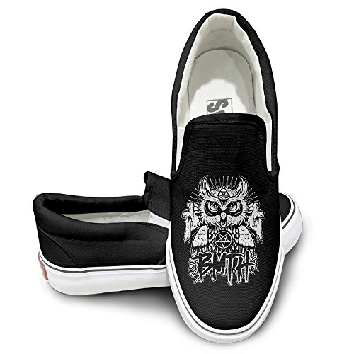 HYRONE Bring Me Owl Horizon Unisex Footwall Canvas Shoes Travel Black (Marilyn Monroe Costume For Kids)
