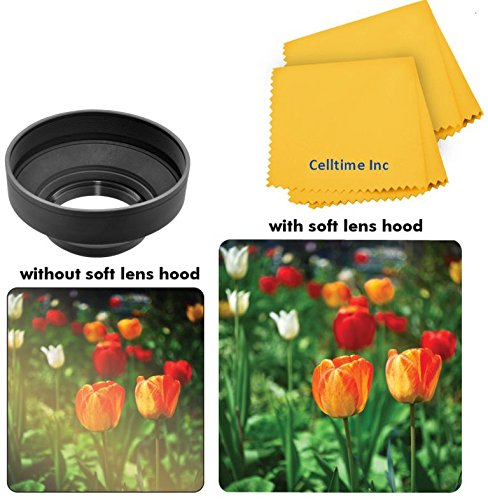 49mm Professional Collapsible Rubber Hood for Panasonic HC-X900M Cameras
