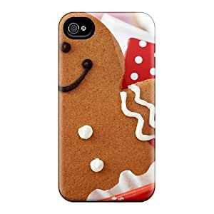 For Iphone 4/4s Protector Case Christmas Cookie Phone Cover