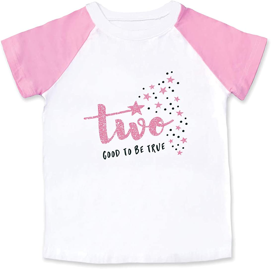 Wild and Happy 2 Year Old 2nd Birthday Shirt Tee T-Shirt Outfit Two Toddler Girl Pink 2T & 3T