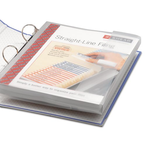 (Smead Products - Smead - Poly Ring Binder Pockets, 9 x 11-1/2, Clear, 3/Pack - Sold As 1 Pack - Flap with hook and loop closure secures bulky documents. - Binder pockets are acid-free, archival quality. - Standard 3-ring binder, holds letter-sized material.)