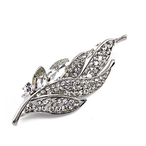 - AMDXD Jewelry Silver Plated Brooch Vintage Loop Drop White Brooches and Pins for Women