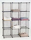Unknown DB-04120 Mini Grid Shelf Unit Grid Wall Panel Shelves Retail Display Fixture Black New