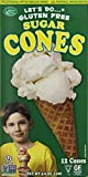 vegan ice cream cones - Edward & Sons Trading Co Cones, Sugar, Gluten Free, 4.6 Ounce (Pack of 12)