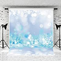 Kate 5X7ft Children Birthday Photography Backdrop Light Blue Glitter Spot Background Cloth