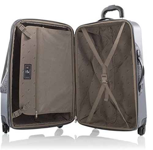 Heys - Hybrid Spinner Edinburgh Grau/Weiss Trolley mit 4 Rollen Gross