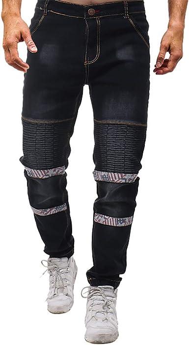 Zezkt Vaqueros Hombre Negro Corte Ajustado Mezclilla Pantalones Straight Vaqueros Jeans De Moda Skinny Slim Fit Jeans Otono E Invierno Nuevo Pantalon Casual Para Hombre Con Bolsillos Amazon Es Ropa Y Accesorios
