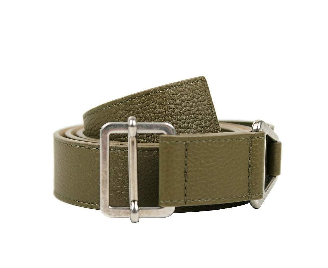 Balenciaga Olive Green Leather Adjustable Belt 437368 3300