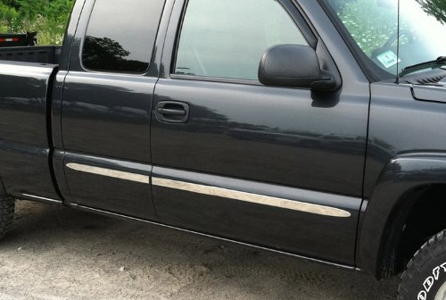 Made In USA! 07-13 Chevy Silverado/GMC Sierra Regular Cab Long Bed Body Side Molding Trim 1.5