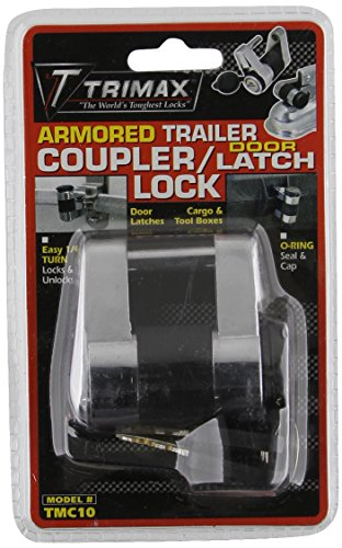 Lock Coupler Unattended Trailer (Trimax TMC10 Coupler / Door Latch Lock (fits couplers to 3/4