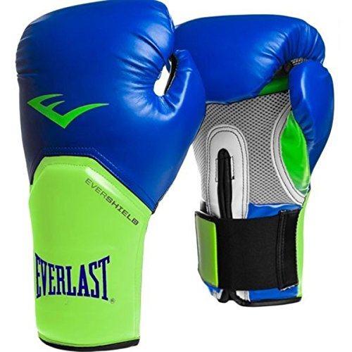 Everlast Boxing Gloves Elite Pro Style Blue/Green
