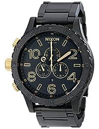 Nixon Men's NXA0831041 Chronograph Black Dial Watch