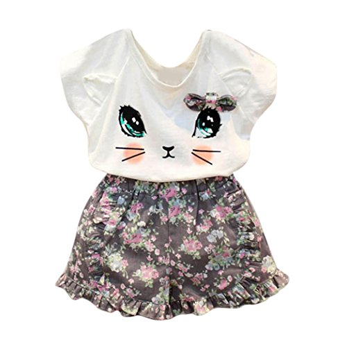 Goodlock-Toddler-Kids-Clothing-Set-Baby-Girls-Cute-Cat-T-Shirt-Floral-Shorts-Set-Clothes-Suit-2Pcs