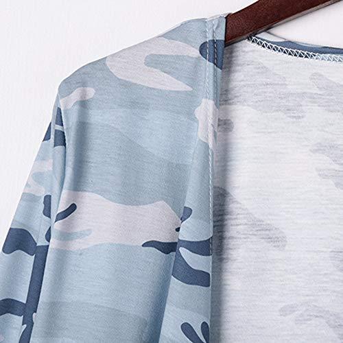 Manga Larga para Mujer Blusa Estampada de Camuflaje Abrigo de Moda Camiseta Camisetas sin Mangas ❤ Manadlian: Amazon.es: Ropa y accesorios