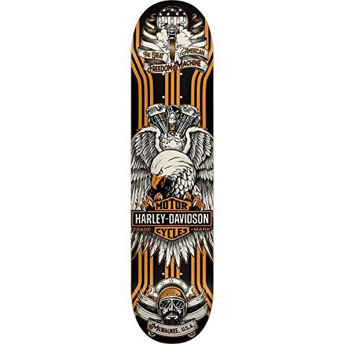雪だるまバレエ鷲DarkstarスケートボードHarley Davidson Eagleブラック/イエロースケートボードデッキ – 7.875