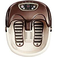 Foot Spa Massager Home Bubble Soak Rolling Scrapping Heat Massage Feet