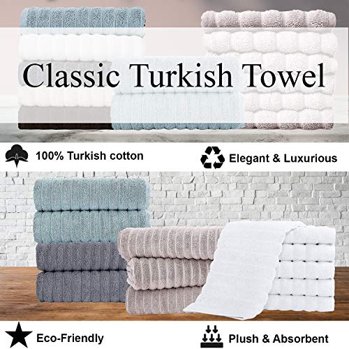 Classic Turkish Towels Luxury Bath Towel Sets - Soft and Thick Oversized Bathroom Towels Made with 100% Turkish Cotton
