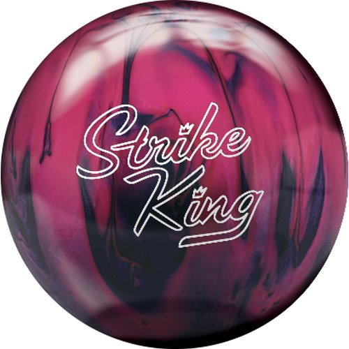 Brunswick Strike King Bowling Ball, Purple/Pink Pearl, 10-Pound (Brunswick Strike)