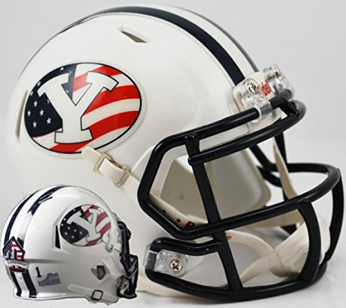 Brigham Young Byu Cougars Football (BRIGHAM YOUNG COUGARS NCAA Riddell Revolution SPEED Mini Football Helmet BYU (FLAG))