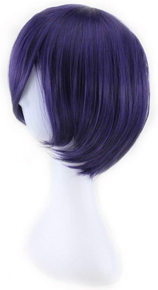 Car-Tobby Anime Cosplay Perruque pour Tokyo Ghoul Touka Kirishima Bleu Violet Perruque
