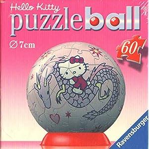 Ravensburger Puzzle Ball 60 Pezzi Hello Kitty Diametro 7cm Con Drago