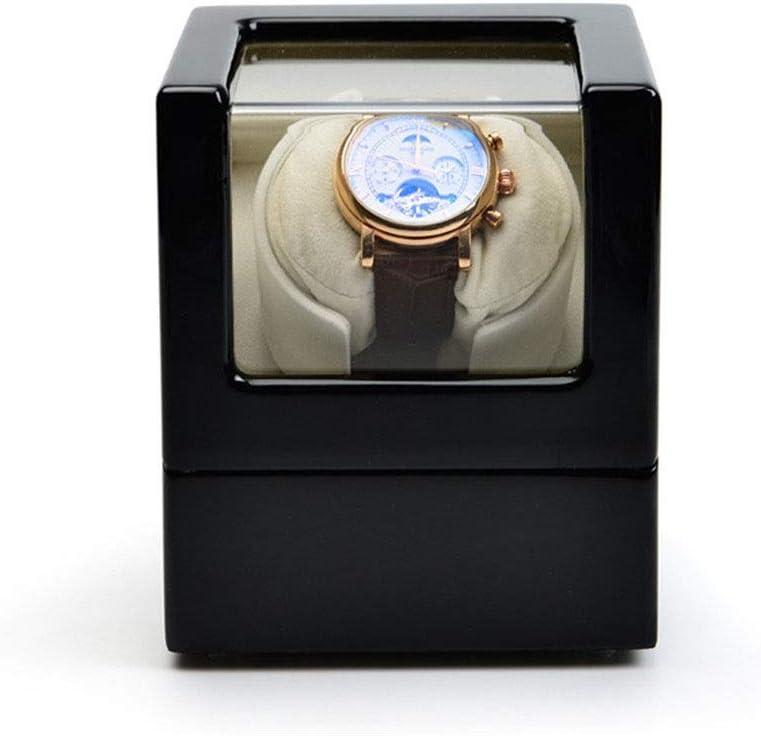 腕時計コレクションケース ウォッチボックスアクリルウォッチボックスのピアノは、機械式時計ボックス自動ペイントシェーカー パーソナルウォッチコレクションに適しています (Color : Black, Size : S)