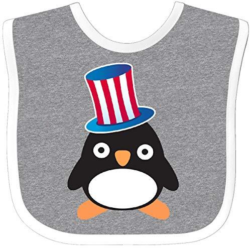Inktastic - Uncle Sam Penguin Baby Bib Heather/White cbe3