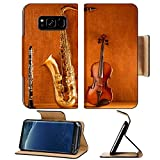 Liili Premium Samsung Galaxy S8 Flip Pu Leather Wallet Case Classic music Sax