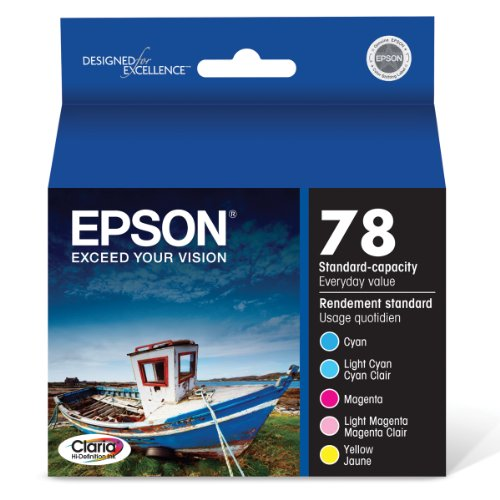 - Epson T078920 Claria Hi-Definition 78 Standard-capacity Inkjet Cartridge Color Multipack -1 Cyan/1 Light Cyan/1 Magenta/1 Light Magenta/1 Yellow