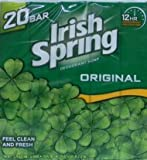 Irish Spring Deodorant Soap Original Scent - 20 ct