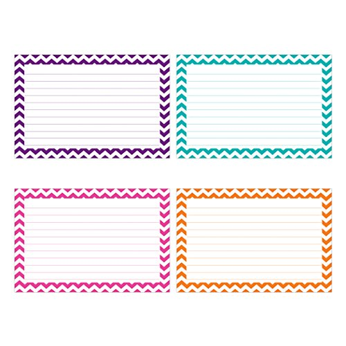 Designs Card Recipe (Top Notch Teacher Products Border Lined Index Cards (75 Count), 3