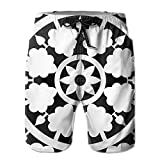 Adults Funny Black And White Stripe Fishing Shorts Drawstring Quick Dry Board Shorts