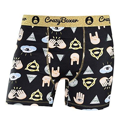 Underwear Crazy Briefs Illuminati Boxer Lovely Emojis 34L5AjRq
