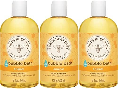 Burt's Bees Baby Bubble Bath, Tear Free Baby Wash - 12 Ounce Bottle - Pack of 3